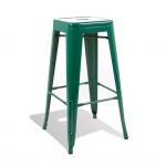 Ghế bar Tolix chân cao màu xanh lá - IBIE