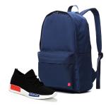Combo balo Glado classical BLL002BU và giày sneaker nam GS064 (Đen)