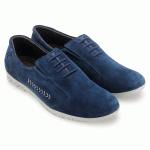 Giày thể thao HUY HOÀNG đế xu cột dây màu xanh dương  HV7750