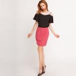 Chân váy mini xếp ly Hity SKI022 (tím plum)