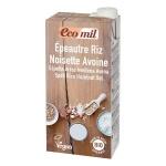 Sữa từ lúa mì yến mạch và hạt phỉ Ecomil hữu cơ 1L