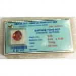 Đá saphire tự nhiên hàng kiểm định kích thước 9,4 li - MDC805