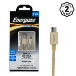 Cáp Micro USB Energizer Metallic Aluminum 1.2m (Gold)