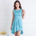 Đầm Fish-tail dress EV0277 (Màu xanh dương)