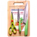 Bộ dao thớt Green Shika - 2252
