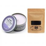 Combo nến thơm tinh dầu oải hương hộp thiếc và bột than Ecolife
