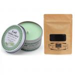 Combo nến thơm tinh dầu sả chanh hộp thiếc và bột than Ecolife