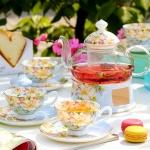 Bộ ấm trà bếp nến hoa vàng