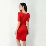 Đầm body thời trang Eden cổ nơ - D275 (đỏ)