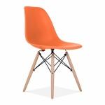 Ghế CZN-Eames màu cam chân gỗ - COZINO