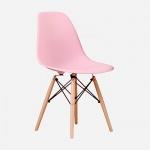 Ghế CZN-Eames màu hồng chân gỗ - COZINO