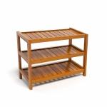 Kệ giày dép CZN363 gỗ cao su màu cánh gián (3 tầng 63 x 30 x 50 cm) -COZINO