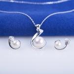 Opal- Set bộ trang sức bạc đính ngọc trai _T05