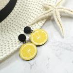 Bông tai Korean tropical lemon -Tatiana - BH3323 (Vàng)