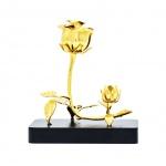 Quà tặng sếp nữ: Hoa hồng mạ vàng 3 in 1 - HHC