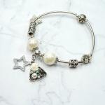 Vòng tay charm đá ngôi sao may mắn - Tatiana - VH2266 (Trắng)