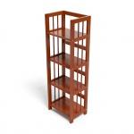 Kệ sách 4 tầng IBIE HB440 gỗ cao su màu cánh gián (40x30x120cm)