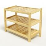 Kệ dép 3 tầng IBIE IB363 gỗ cao su 63x30x50 cm màu tự nhiên