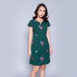 Đầm suông thời trang Eden - D300 (xanh rêu)