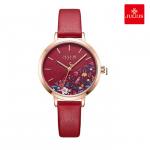 Đồng hồ nữ JULIUS JA1089 dây da đỏ