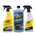 Combo nước rửa xe có chất đánh bóng cao cấp-Nước rửa kính chống bám nước-Phục hồi sáng bóng vỏ xe dạng xịt Formula 1