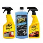 Combo giặt nệm khử mùi dạng xịt-Nước rửa xe có chất đánh bóng cao cấp-Chất tẩy sạch vết bẩn cứng đầu Formula 1