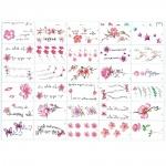 30 tờ hình xăm dán tattoo tha thu từ  60-70 hình xăm