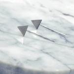 Bông tai khối hình tam giác - Tatiana - BH2755B (Bạc)