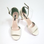 Giày cao gót vuông da mềm Chika