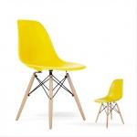Ghế Eames chân gỗ DSW ( Vàng )