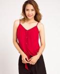 Áo hai dây cột trước summer breeze TOP074 (đỏ cabernet)