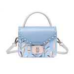Túi xách vuông đinh màu xanh biển Venuco Madrid B06S315