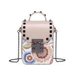 Túi mini đinh màu kem D02B193 Venuco Madrid