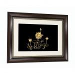 Quà tặng sinh nhật mẹ: Tranh hoa sen mạ vàng 24K treo tường - THSMV03