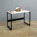 Bộ bàn làm việc CZN-Havant gỗ tự nhiên sơn trắng chân đen và ghế eames trắng - COZINO
