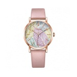 Đồng hồ nữ Hàn Quốc Julius JA-1090D dây da hồng
