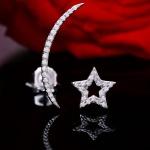 Bông tai bạc Moon Star
