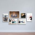 Bộ 6 tranh treo tường cho phòng  Yoga W1141 Canvas size S (nhỏ)