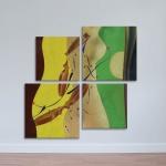 Bộ 4 tranh trừu tượng nghệ thuật - phong cách nude art W1152 size 40 x 40 Canvas