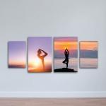 Tranh treo tường Yoga ép gỗ W1140 Canvas size S (nhỏ)
