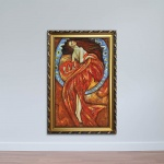 Tranh nghệ thuật cổ điển - Tranh cô gái đẹp W1160 size 40 X 60 Canvas