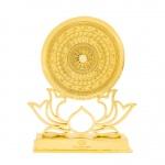Quà tặng ngoại giao cao cấp: Mặt trống đồng cổ mạ vàng 24K