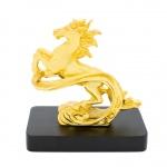 Quà tặng sinh nhật sếp nam: Tượng ngựa vờn mây mạ vàng 24K