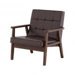 Ghế sofa 1 người 8464819 - sản phẩm Nhật Bản - màu nâu đen