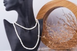 Opal - Vòng cổ ngọc trai trắng dài 4li _T11