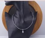 Opal - Vòng cổ ngọc trai đen tự nhiên kèm mặt ngọc ốc giọt_T11