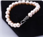 Opal - Vòng tay ngọc trai hồng tự nhiên khóa bạc_T12