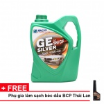 Nhớt xe ô tô tổng hợp BCP Thái Lan nhập khẩu dành cho xe động cơ xăng - GE SILVER - SAE 10W40 - API SN/CF - 4L tặng dung dịch súc béc dầu Bcp Diesel Fuel Conditioner 200ml
