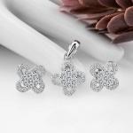 Bộ trang sức bạc Daring Flower