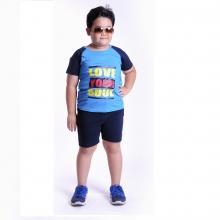 Đồ bộ thun bé trai (xanh dương) - UKID16